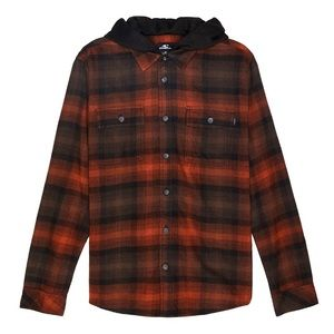 O'Neill Flannel Plaid Hooded Shirt Jacket